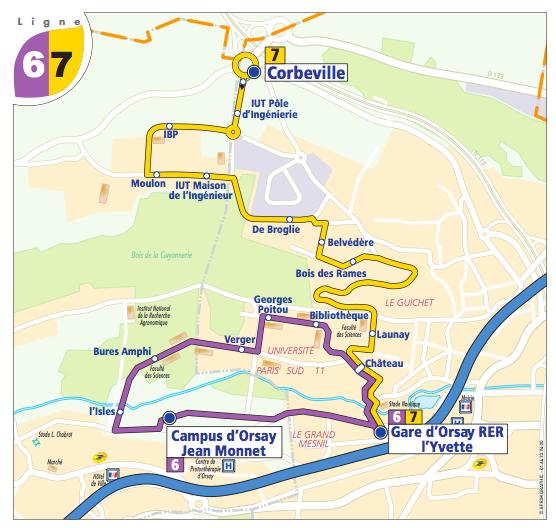 Lignes de bus 6 et 7